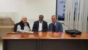 Prof Annarita Puglielli, Dr. Jama Musse Jama, Prof. Giorgio Banti